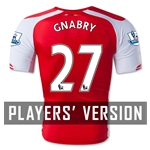 Arsenal 14/15 GNABRY 27 Authentic Home Soccer Jersey