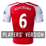 Arsenal 14/15 KOSCIELNY Authentic Home Soccer Jersey