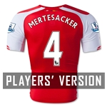 Arsenal 14/15 MERTESACKER Authentic Home Soccer Jersey