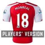 Arsenal 14/15 MONREAL 18 Authentic Home Soccer Jersey