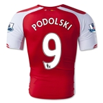 Arsenal 14/15 PODOLSKI Authentic Home Soccer Jersey