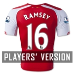 Arsenal 14/15 RAMSEY Authentic Home Soccer Jersey