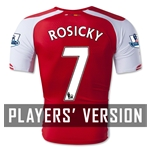 Arsenal 14/15 ROSICKY Authentic Home Soccer Jersey