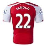 Arsenal 14/15 SANOGO Authentic Home Soccer Jersey