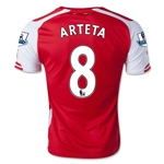 Arsenal 14/15 ARTETA Home Soccer Jersey