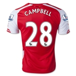 Arsenal 14/15 CAMPBELL Home Soccer Jersey