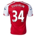 Arsenal 14/15 COQUELIN Home Soccer Jersey