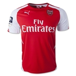 Arsenal 14/15 Home Soccer Jersey w/ FA Cup Patch