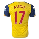 Arsenal 14/15 ALEXIS Away Soccer Jersey