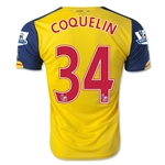 Arsenal 14/15 COQUELIN Away Soccer Jersey