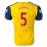 Arsenal 14/15 GABRIEL Away Soccer Jersey