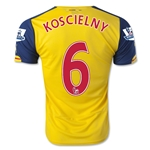 Arsenal 14/15 KOSCIELNY Away Soccer Jersey