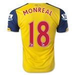 Arsenal 14/15 MONREAL 18 Away Soccer Jersey