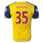Arsenal 14/15 ZELALEM 35 Away Soccer Jersey