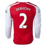 Arsenal 14/15 DEBUCHY LS Home Soccer Jersey