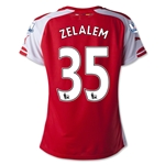 Arsenal 14/15 ZELALEM 35 Women's Home Soccer Jersey
