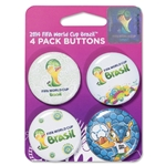 2014 FIFA World Cup Brazil(TM) 4-Pack Buttons