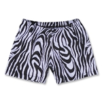 Black and White Zebra 4 Compression Short (Blk/Wht)