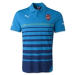 Arsenal Short Sleeve Hooped Polo