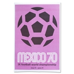 1970 FIFA World Cup Mexico Poster
