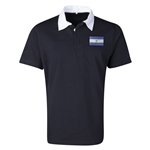 Argentina Flag Retro Rugby Jersey (Black)