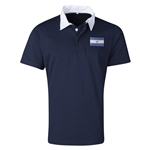 Argentina Flag Retro Rugby Jersey (Navy)
