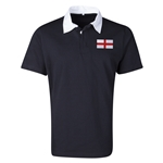 England Flag Retro Rugby Jersey (Black)