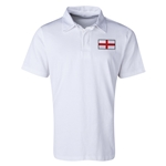 England Flag Retro Rugby Jersey (White)