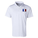 France Flag Retro Rugby Jersey (White)