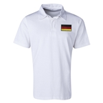 Germany Flag Retro Rugby Jersey (White)