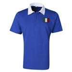 Italy Flag Retro Rugby Jersey (Blue)