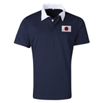 Japan Flag Retro Rugby Jersey (Navy)