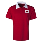 Japan Flag Retro Rugby Jersey (Red)