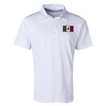 Mexico Flag Retro Rugby Jersey (White)
