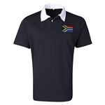 South Africa Flag Retro Rugby Jersey (Black)