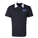 Scotland Flag Retro Rugby Jersey (Black)