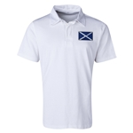 Scotland Flag Retro Rugby Jersey (White)
