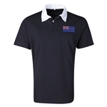 New Zealand Flag Retro Rugby Jersey (Black)