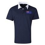 New Zealand Flag Retro Rugby Jersey (Navy)