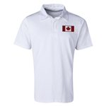 Canada Flag Retro Rugby Jersey (White)