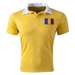 Romania Flag Retro Rugby Jersey (Yellow)