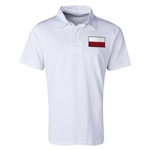 Poland Flag Retro Rugby Jersey (White)