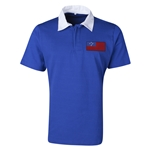Samoa Flag Retro Rugby Jersey (Blue)