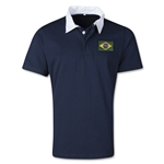 Brazil Retro Flag Shirt (Navy)
