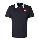 Switzerland Retro Flag Shirt (Black)