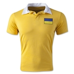 Ukraine Retro Flag Shirt (Yellow)
