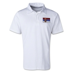 Serbia Retro Flag Shirt (White)