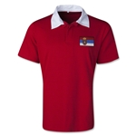 Serbia Retro Flag Shirt (Red)
