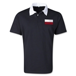 Poland Retro Flag Shirt (Black)