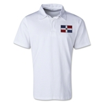 Dominican Republic Retro Flag Shirt (White)